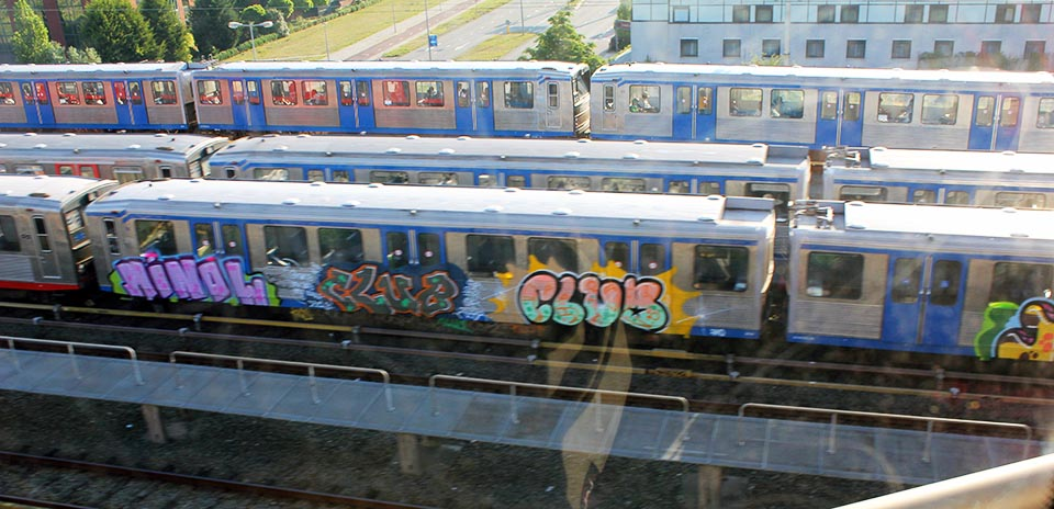 graffiti subway train amsterdam holland minol club