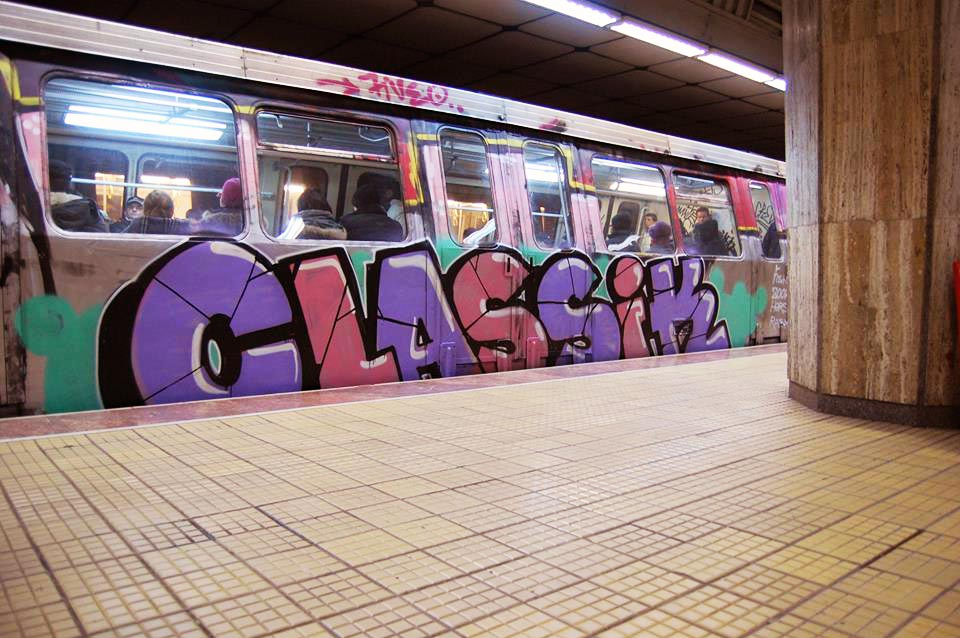 graffiti subway train bucharest romania classik