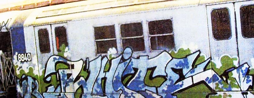 graffiti subway train nyc classic style rare photo