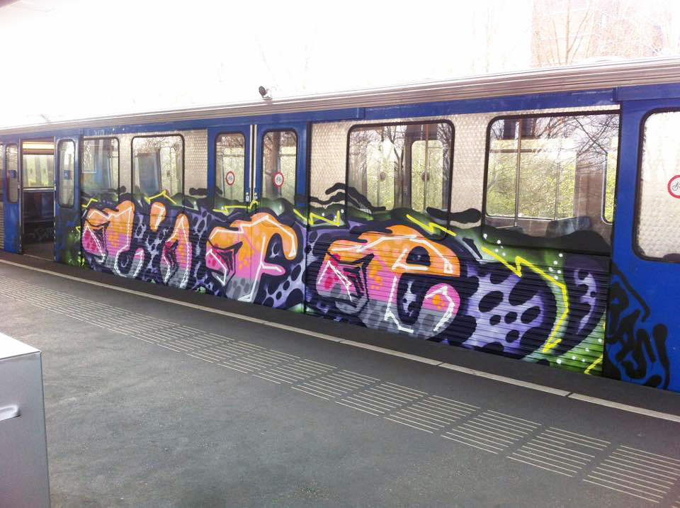graffiti subway train amsterdam holland subway