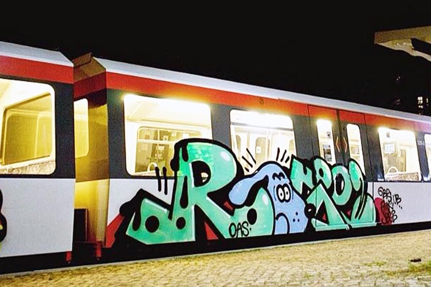 graffiti train subway hamburg germany rosè