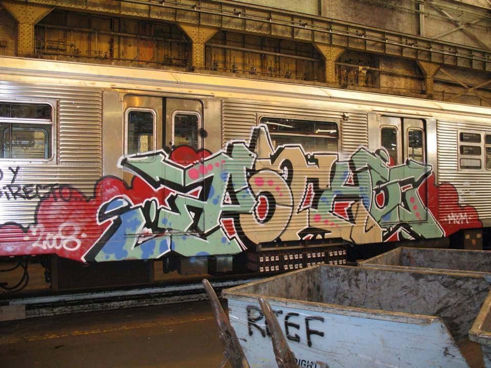 graffiti trains subway nyc newyork usa pocho
