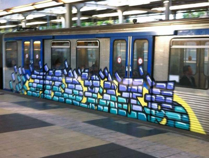 graffiti trains subway amsterdam holland furious akbar