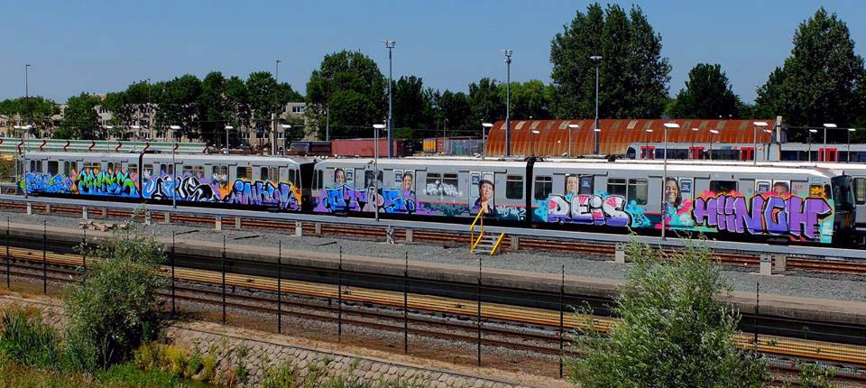 graffiti train subway rotterdam holland 2015
