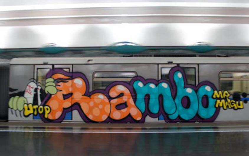 graffiti train subway moskow russia 2015