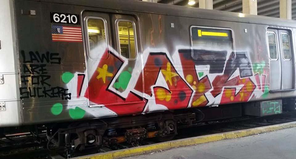 graffiti train subway nyc newyork usa