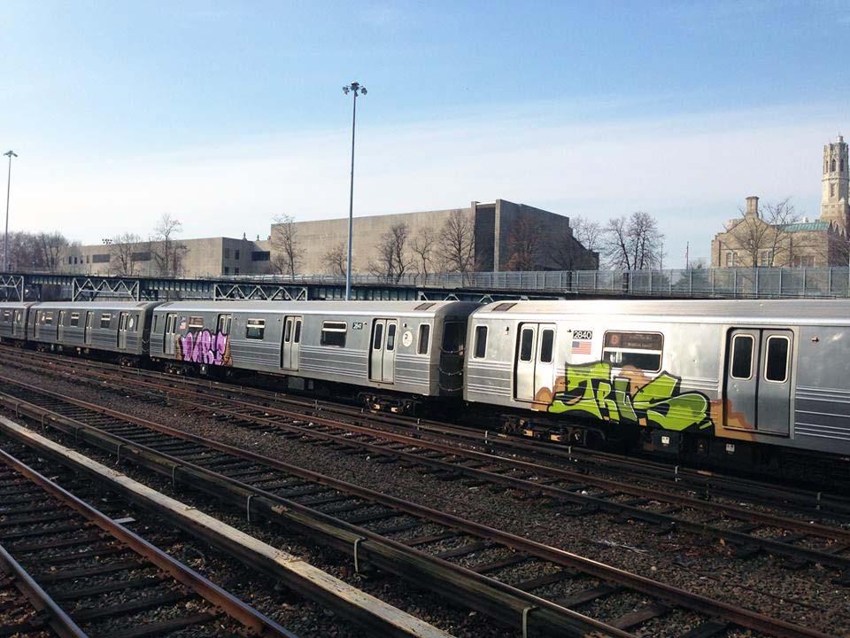 graffiti train subway nyc newyork usa dart trus