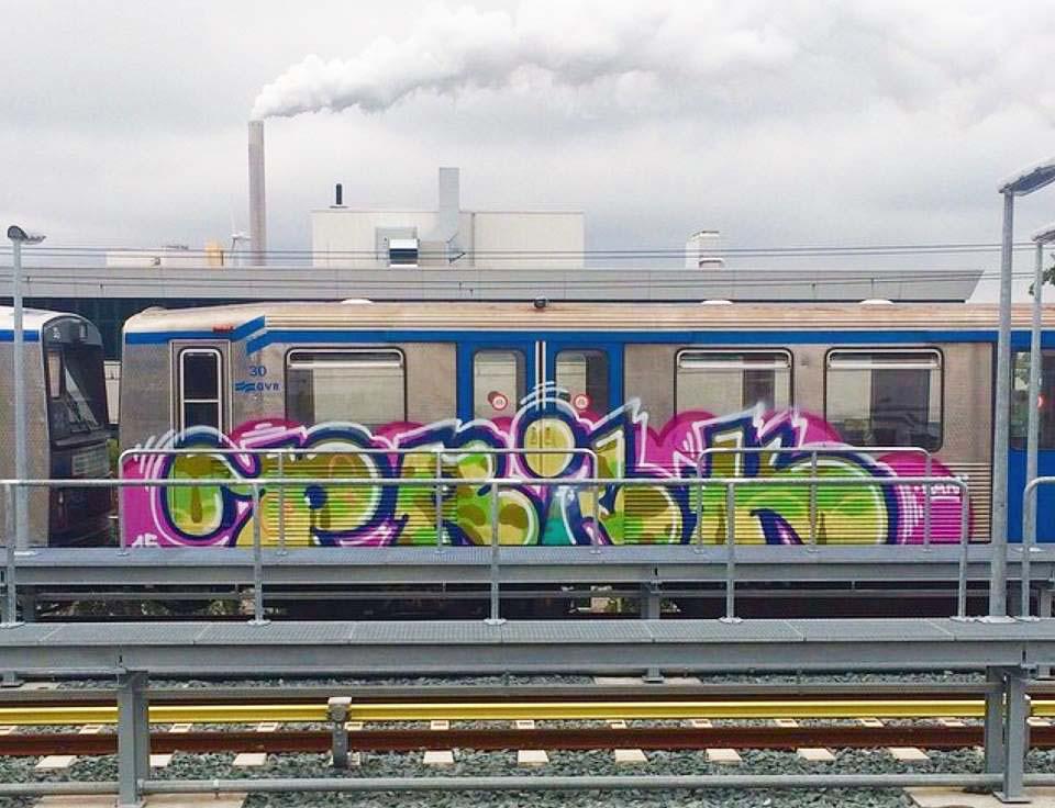 graffiti train subway amsterdam holland 2015