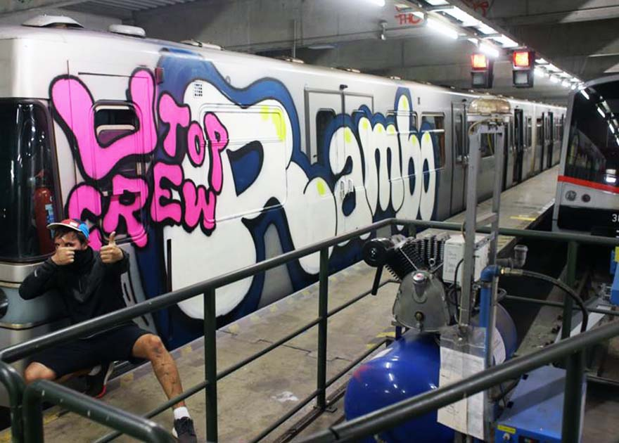 grafiti train subway 2015 vienna austria rambo utop t2b