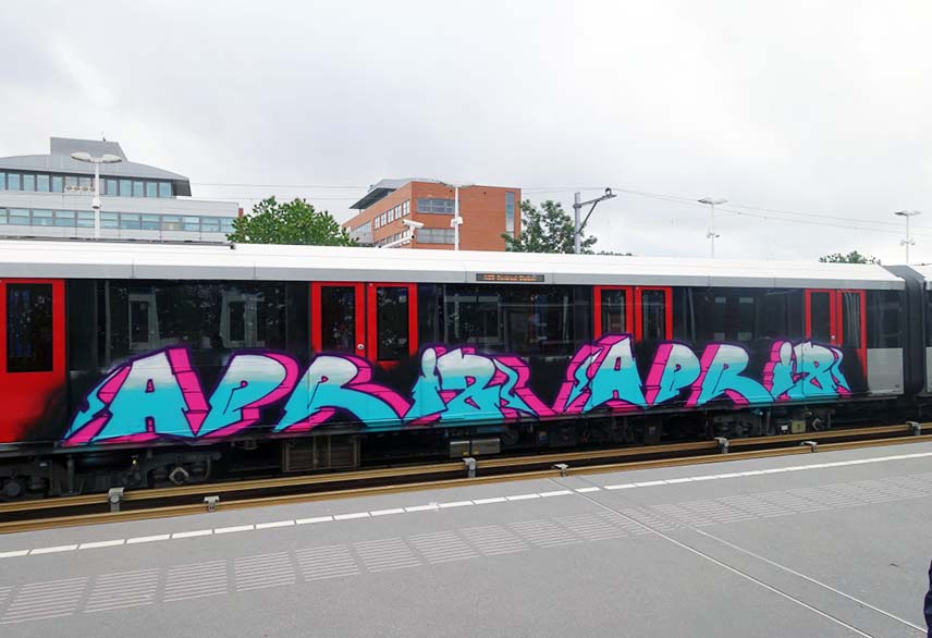 graffiti subway train amsterdam holland 2015