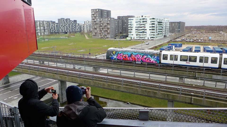 graffiti train subway copenhagen denmark wholecar