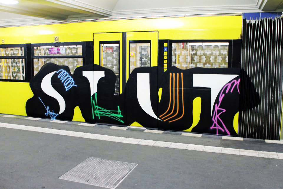 graffiti subway train berlin germany slut