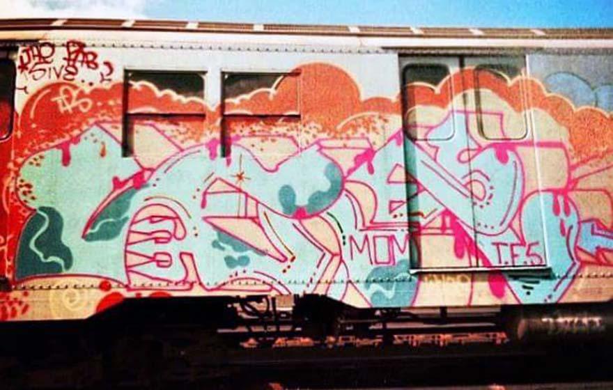 graffiti train subway lee thefab5ive nyc newyork USA classic