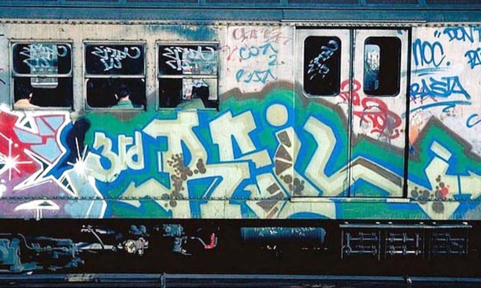 graffiti subway train 3rd rail dondi nyc newyork classic god