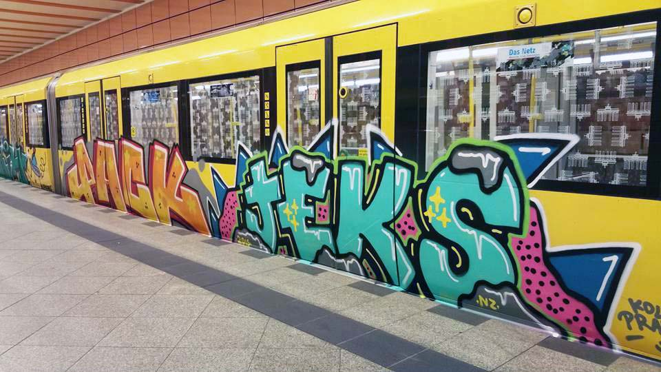graffiti subway train pack jeks berlin germany 2015