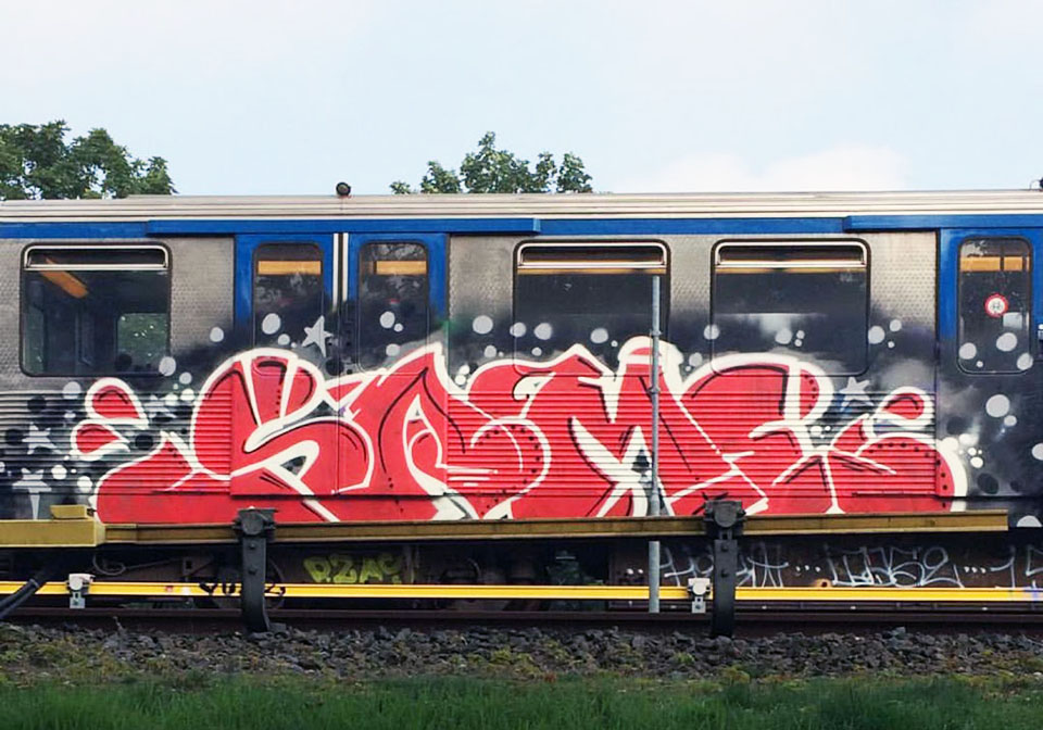 graffiti subway train amsterdam holland same