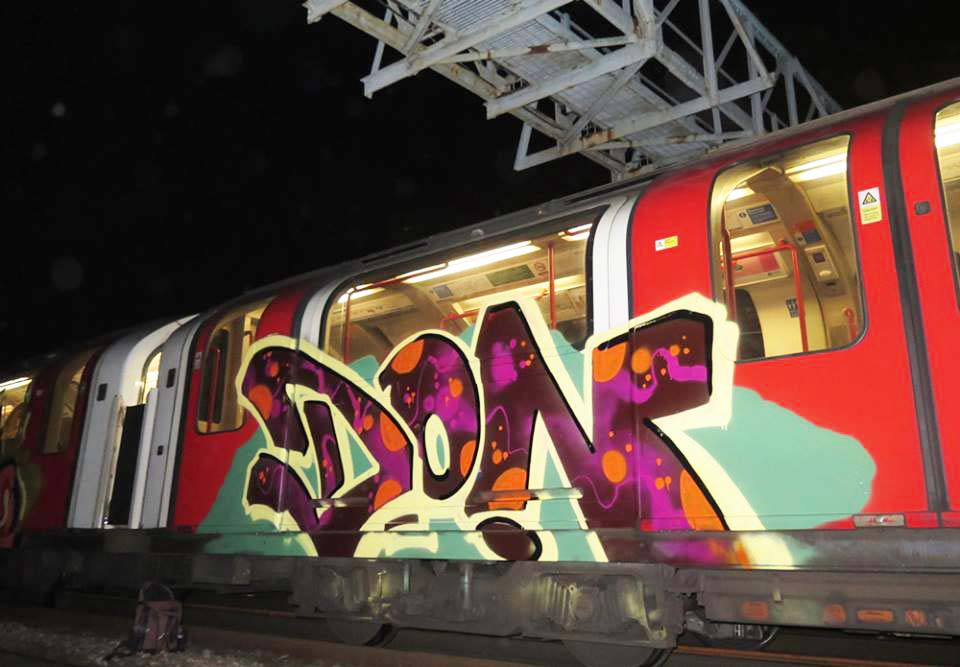 graffiti train subway london uk tube