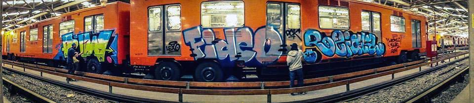 graffiti train subway mexicocity mexico
