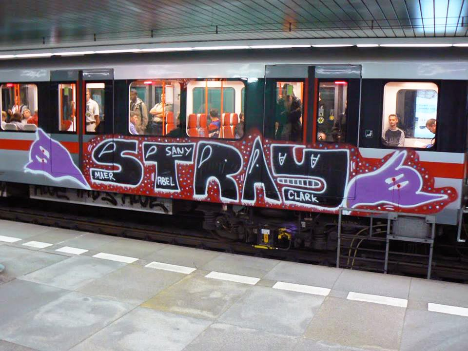 graffiti train subway prague czech republic