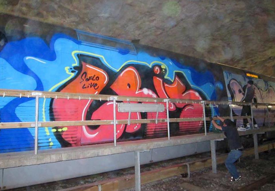 graffiti train subway stockholm sweden risk rip king