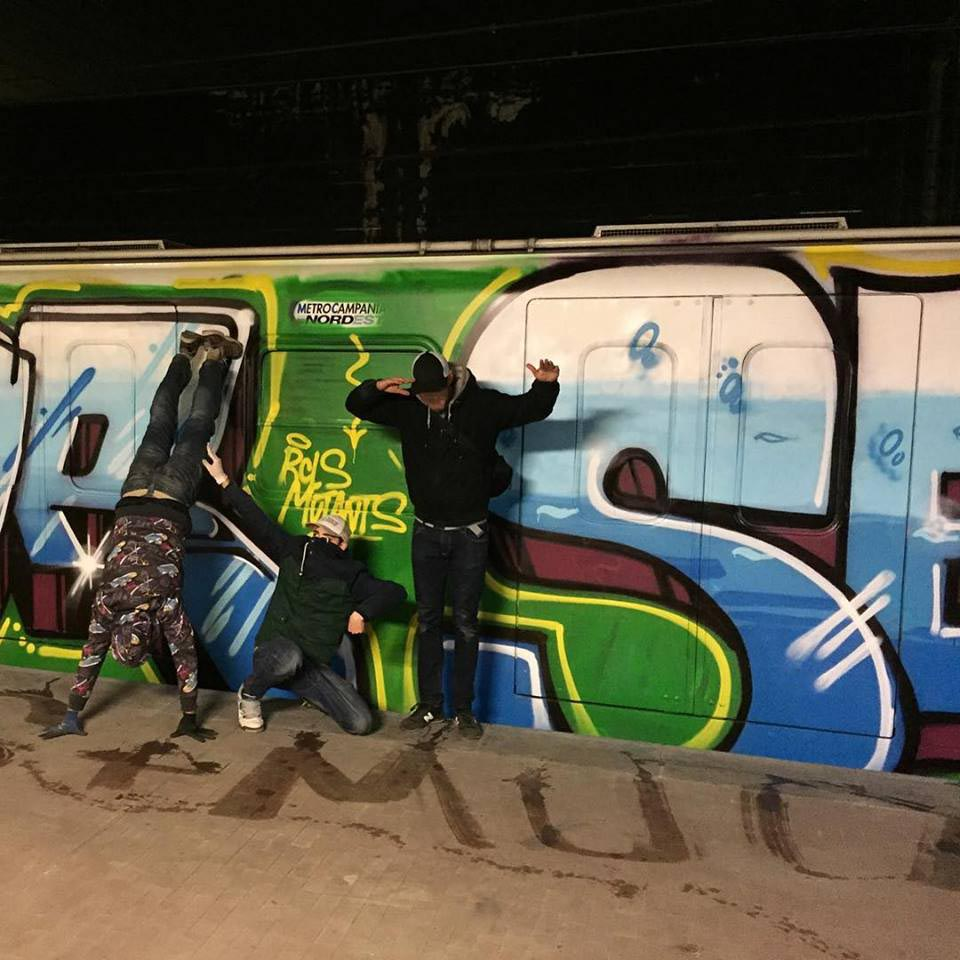graffiti subway train naples italy rcls 2016