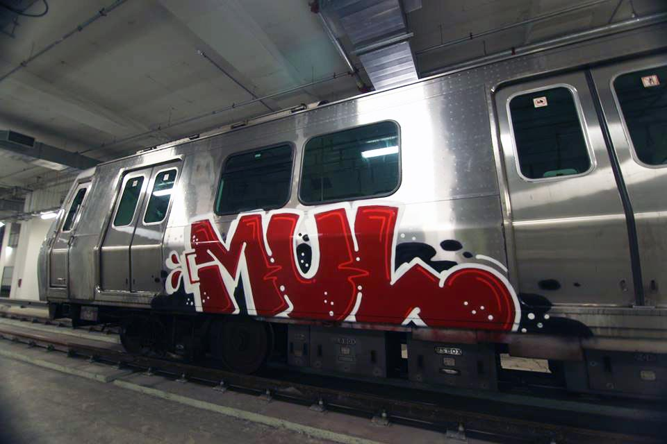 graffiti train subway mul