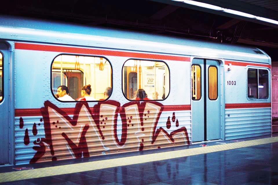 graffiti subway train mul running backjump