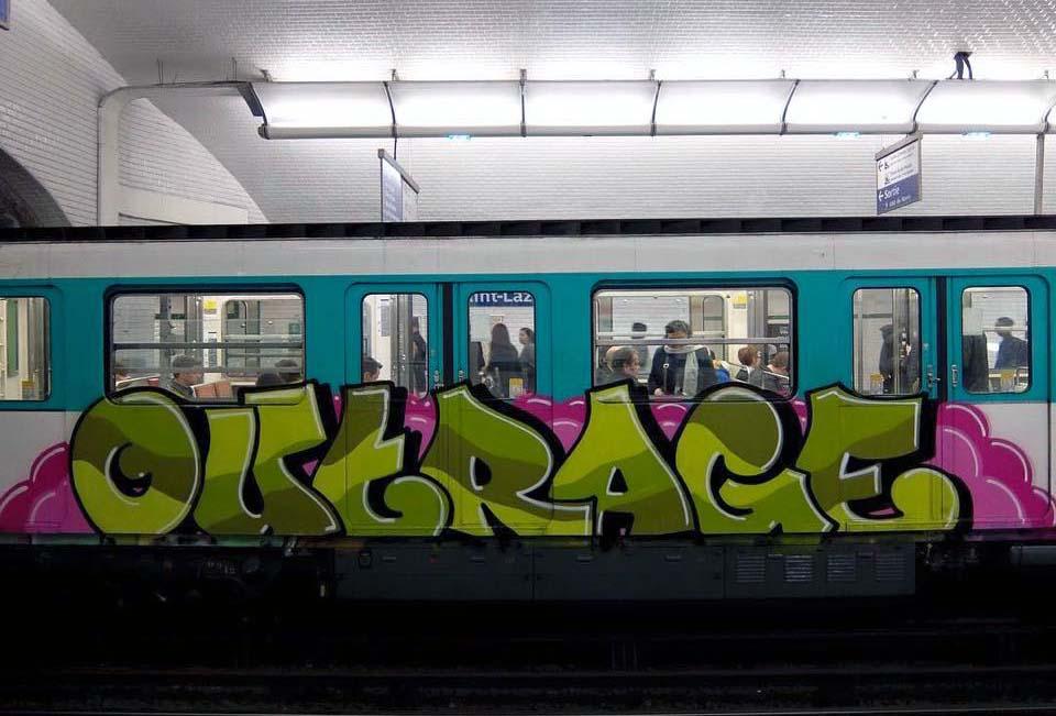 graffiti train subway paris france