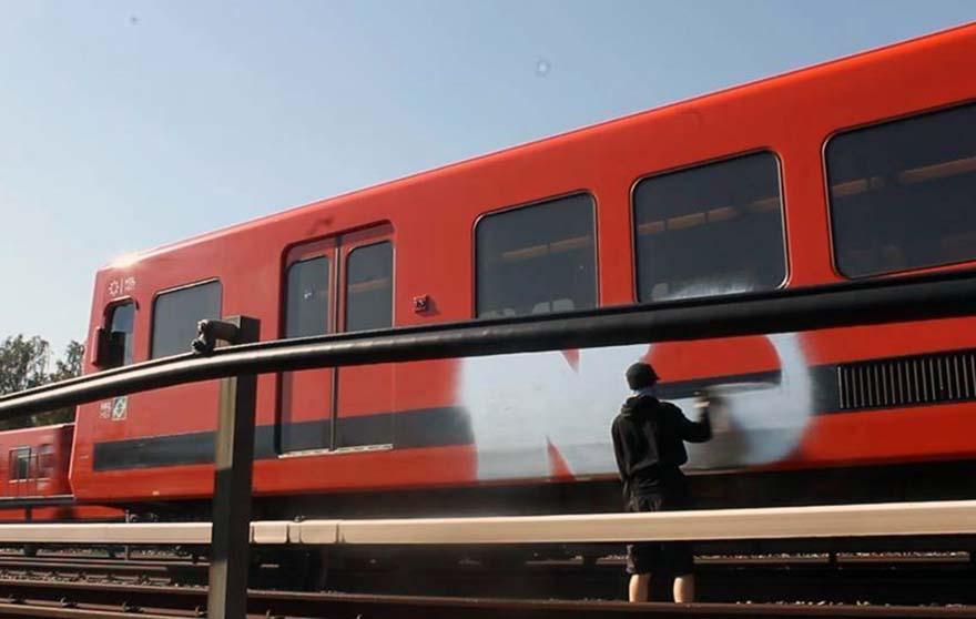 graffiti train subway helsinki finland