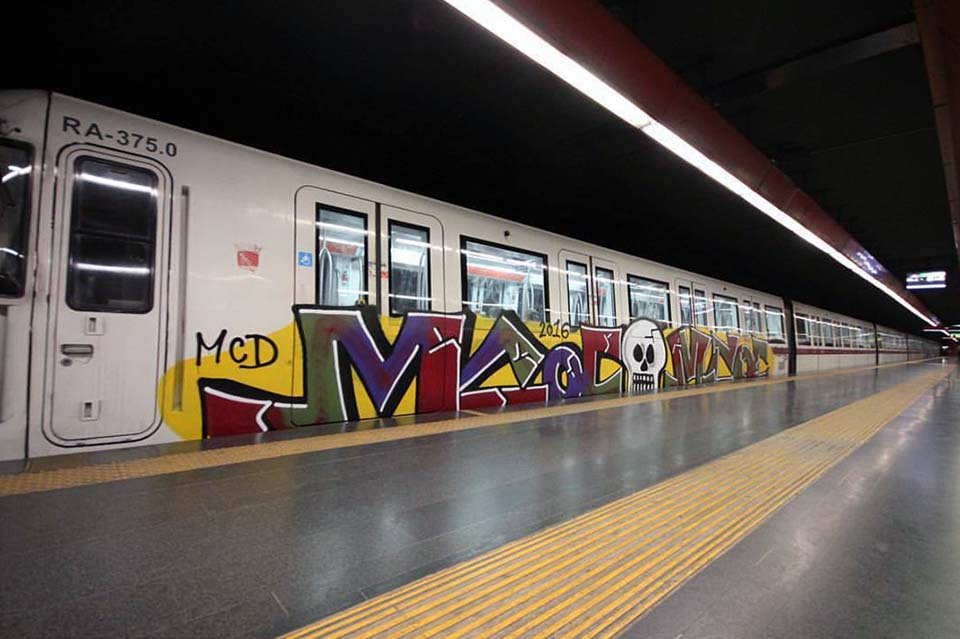 graffiti train subway rome italy 2016 mcd