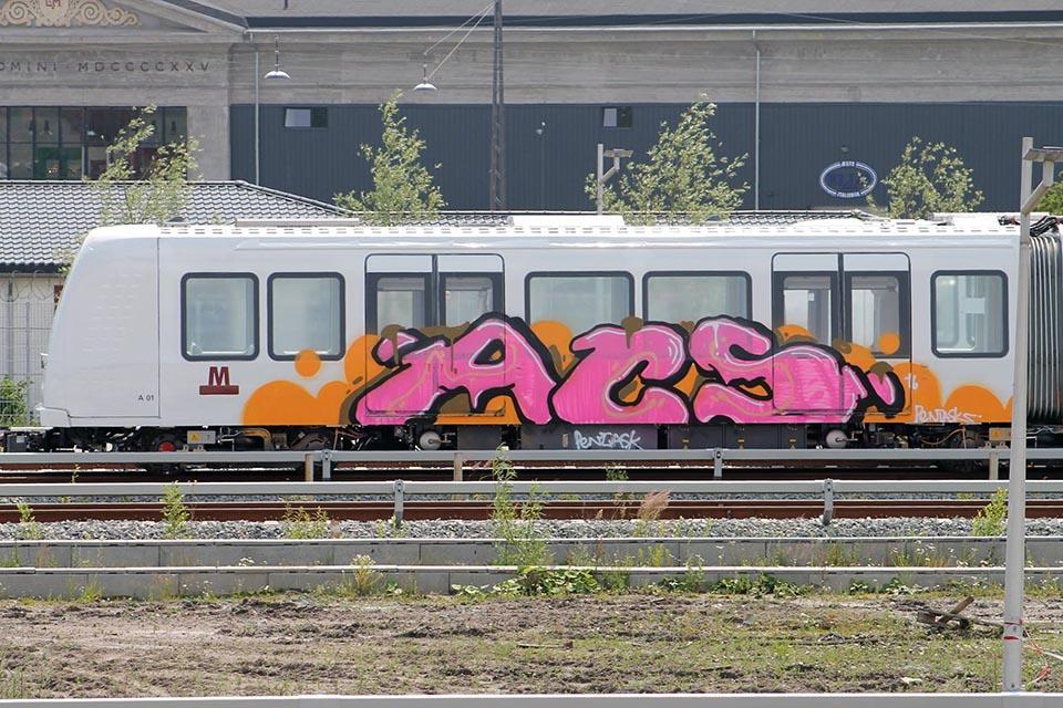 graffiti train subway copenhagen denmark acs