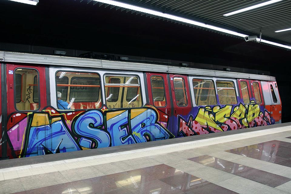 graffiti train subway bucharest romania newmodel mser running