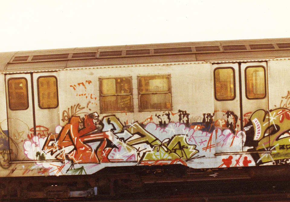 graffiti subway train 1980s newyork nyc usa kr.one kolorstorm