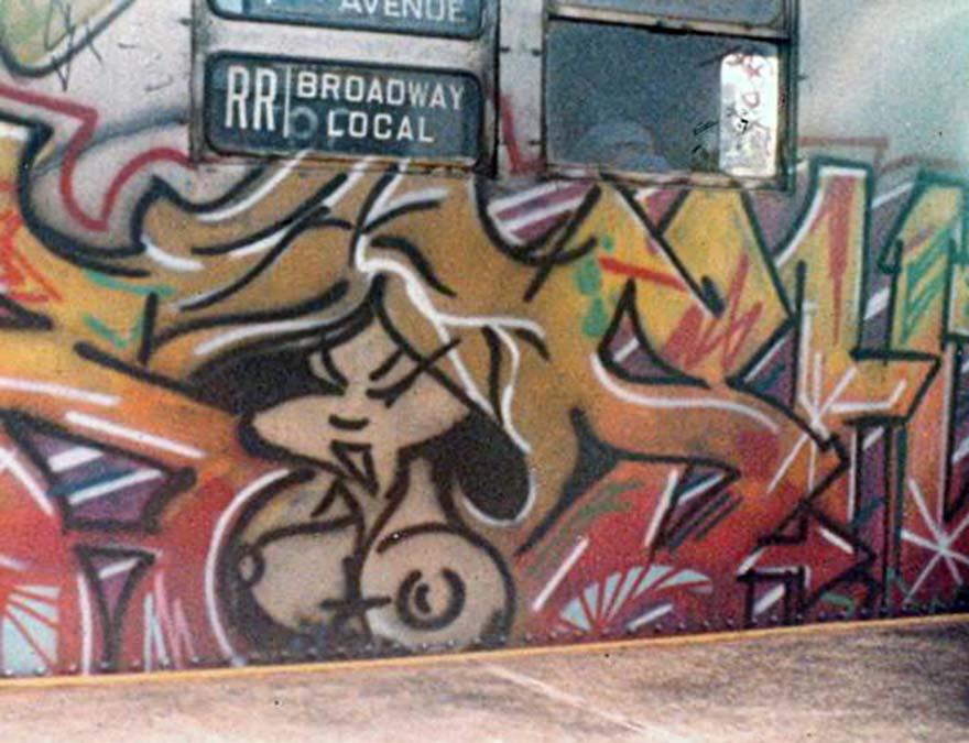 graffiti subway train 1980s newyork nyc usa kr.one kolorstorm