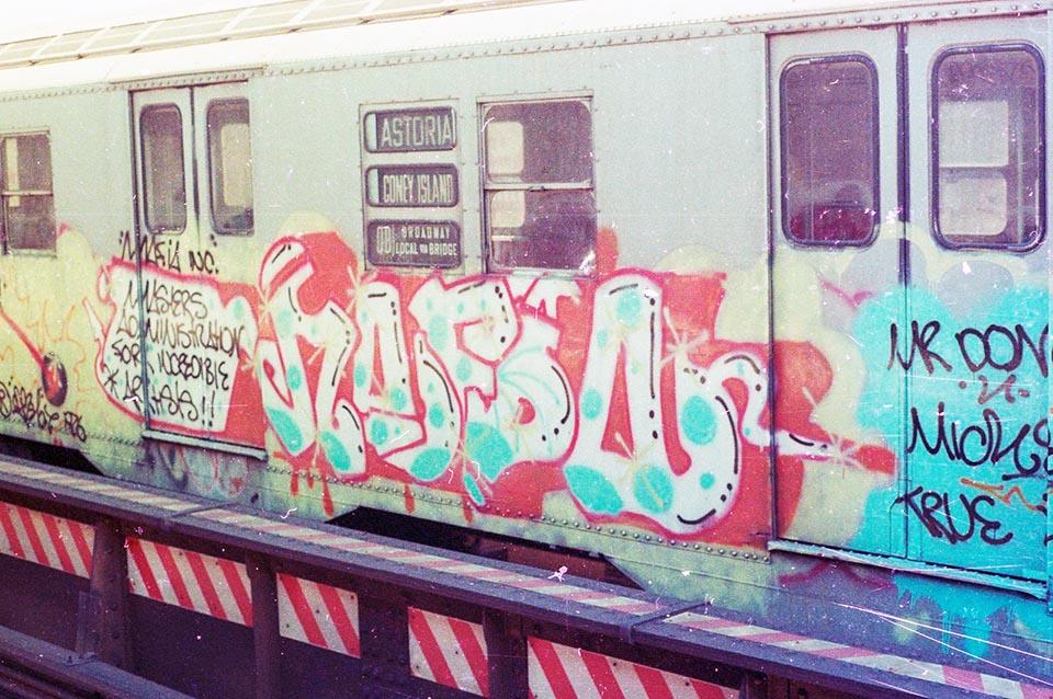 graffiti subway train 1980s newyork nyc usa kr.one kolorstorm mafia don1 rip