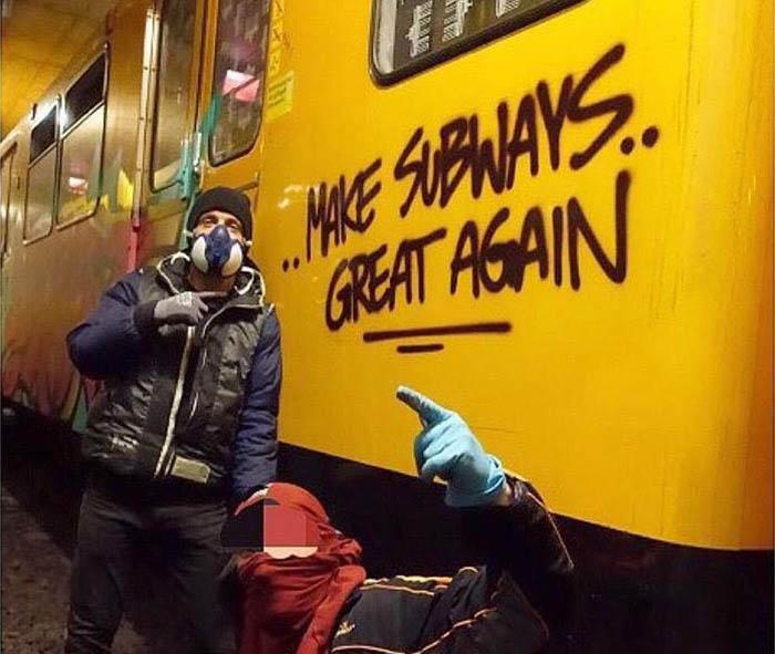 subway graffiti train berlin germany action 2016