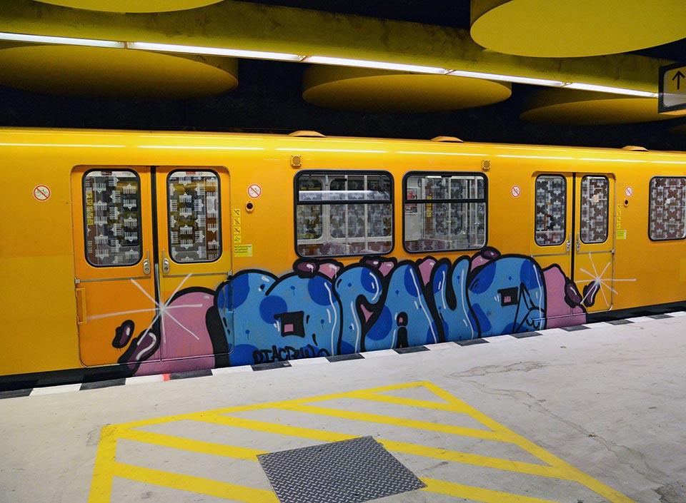 graffiti train subway berlin germany bravo 2016