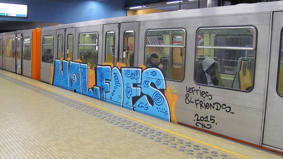 graffiti subway train brussels belgium wal fofs
