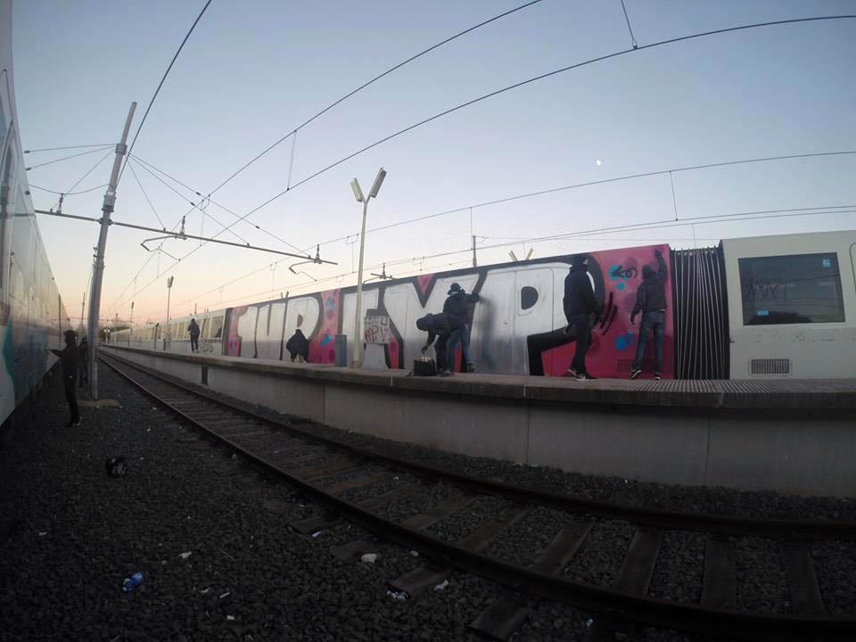 graffiti subway train brussels rome italy eyp 1up