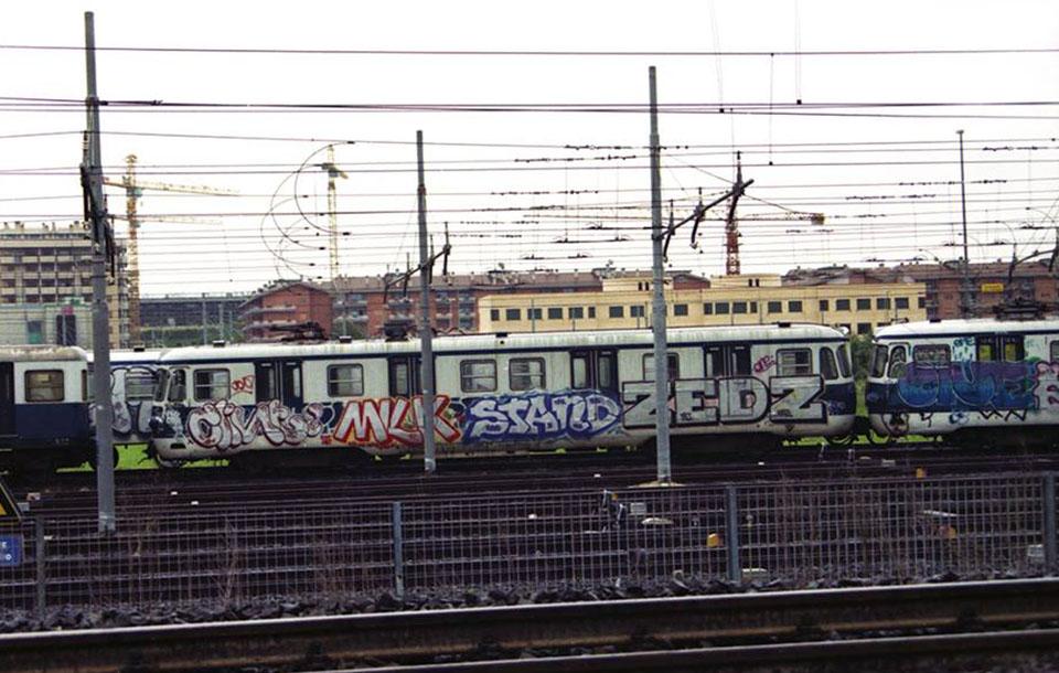 graffiti train subway rome goldenage 1995 clint milk stand zedz one italy history