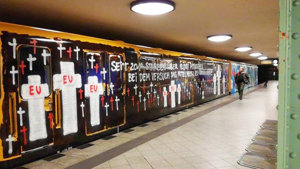 graffiti train subway berlin germany 2017 running graffitilesson