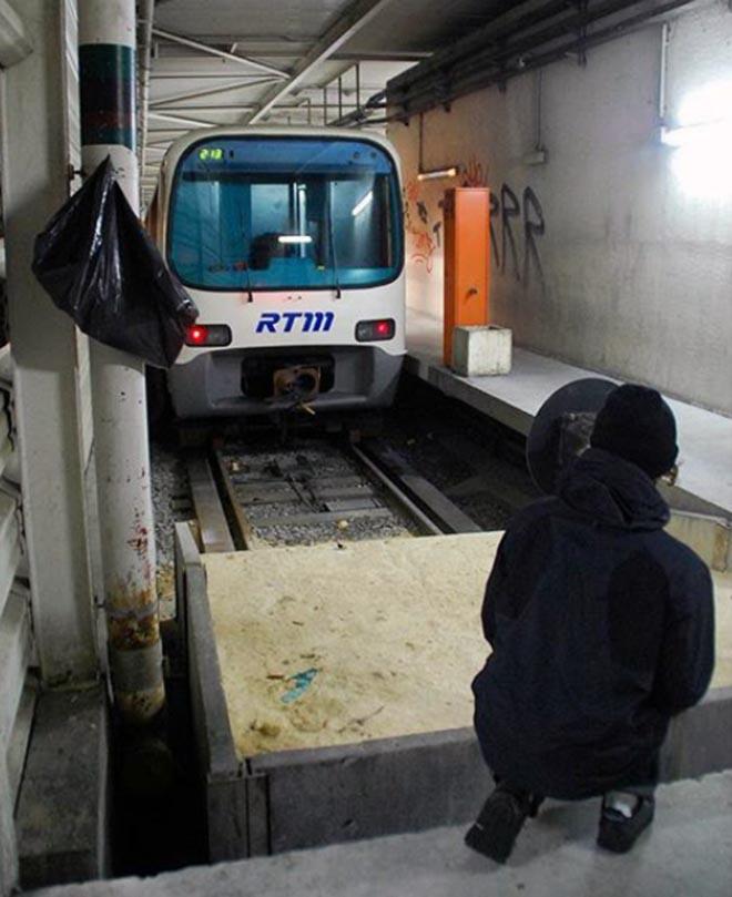 graffiti train subway marseille france head