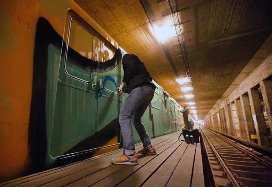 graffiti subway train berlin germany 1up wholecar action