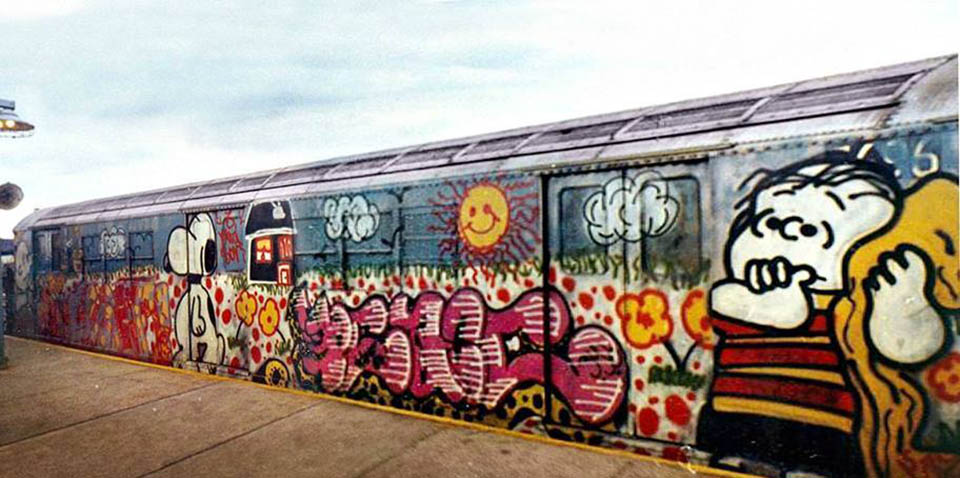 graffiti train subway nyc classic usa newyork peace