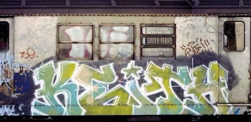 graffiti subway train classic nyc newyork usa keith
