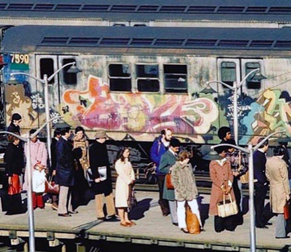 graffiti subway train classic nyc newyork usa
