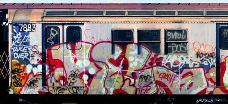 graffiti subway train classic nyc newyork usa kel