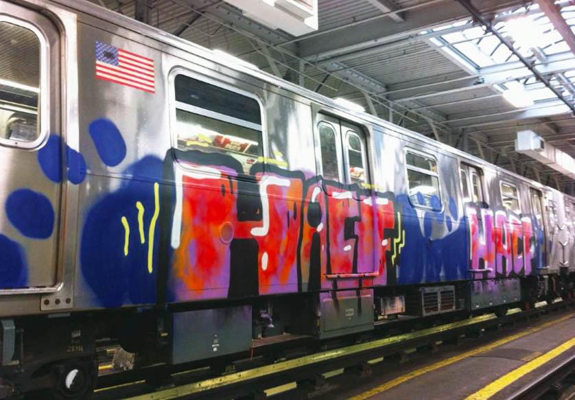 graffiti train subway clean nyc newyork 2017 usa writing