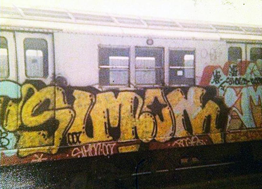 graffiti writing train subway nyc newyork classic usa simon 007