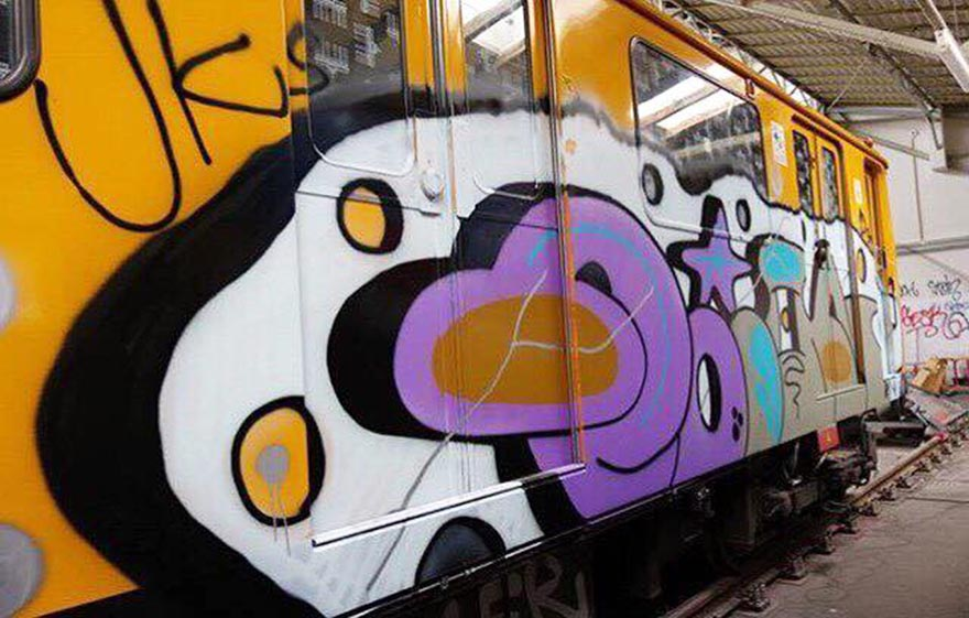 graffiti train subway writing berlin germany